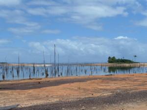 Februari 2014: Strandje voor rsort Matu Island (foto: René Hoeflaak)