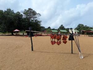 Februari 2014, Suriname: Activiteitencentrum van resort Bergendal. (foto: René Hoeflaak)