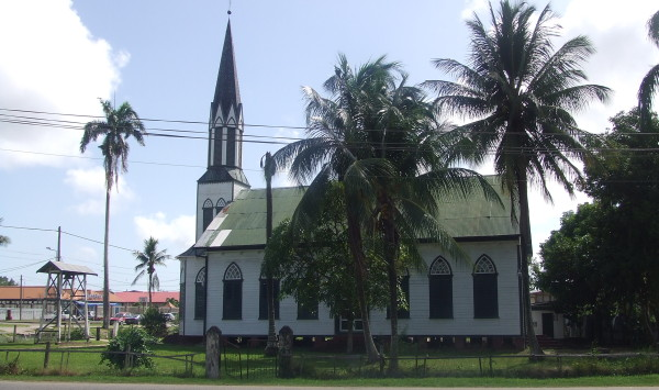 Februari 2011: Kerk in Nieuw Nickerie, district Nickerie (foto: René Hoeflaak)