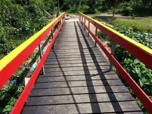 Een van de bruggen van het zeventig kilometer lange pad (foto: FB pagina  B. Ahmadali)