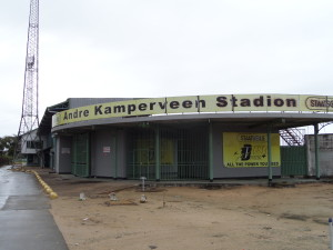 Paramaribo, André Kamperveen stadion, november 2014. (foto: René Hoeflaak)