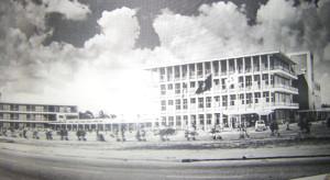 Diakonessenhuis bij de oplevering in 1962 (bron foto:  http://www.diakonessenhuis.org)