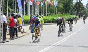 Zondag, 10 mei 2015: Finale van Grand Prix de la Coopération Régionale in de straten van Paramaribo (foto: Stefano Tull, De Ware Tijd)