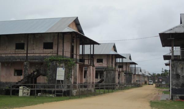 """Frans Guyana, februari 2011: De gevangenis in St. Laurent Dur Maroni, bekend van het boek en film 'Papillon""""."""