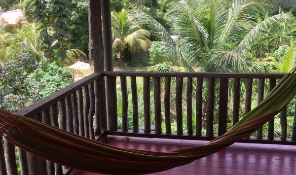 13 februari 2017: Domburg, Suriname: Guesthouse Little Paradise (foto: René Hoeflaak)