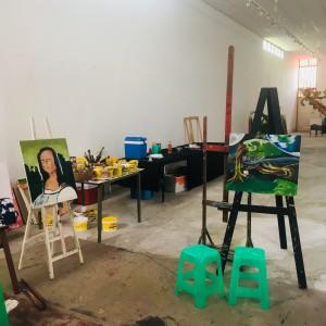 20 maar 2018: Art Blok, de galerie en workshoplocatie van George Struikelblok (foto: René Hoeflaak)