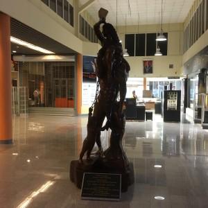 Suriname, februari 2017: lege aankomsthal luchthaven Johan Adolf Pengel. Maar dat gaat veranderen (foto: René Hoeflaak)