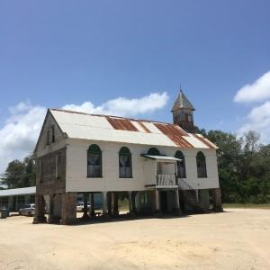 Suriname, Coronie, 12 maart 2018: kerk uit de 19e eeuw in Totness (foto: René Hoeflaak)