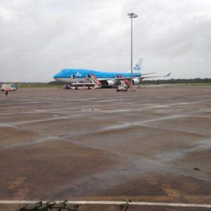 KLM toestel Johan Adolf Pengel Airport Suriname