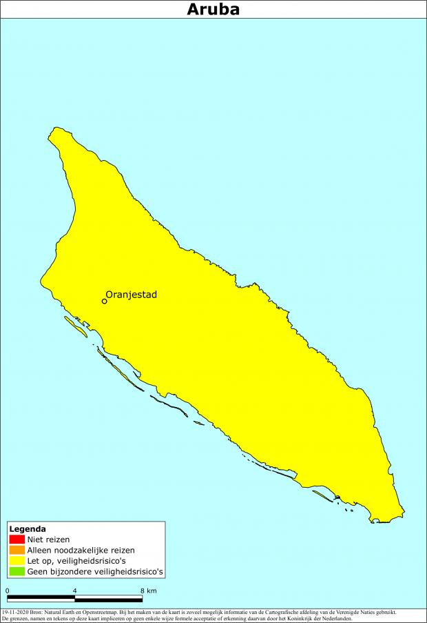 Aruba code geel