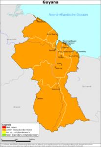 Kaart Guyana