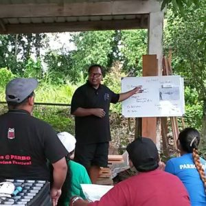 Rainey Sastrowidjojo staand midden) traint cliënten van B4Agro&FoodSystems